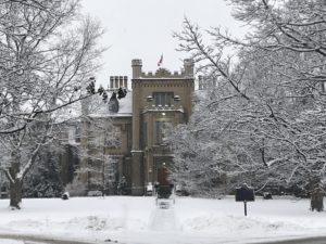 Trafalgar Castle School Picture with Snow