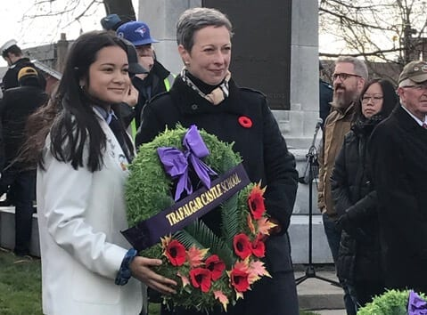 Remembrance Day in Whitby 2018