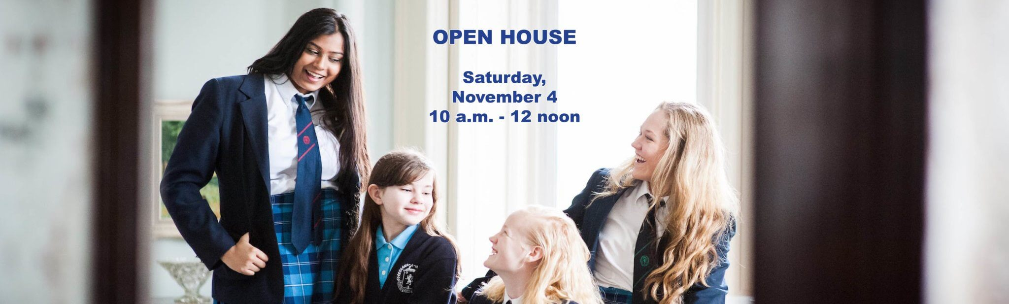 Open House Banner for Day Admissions Page