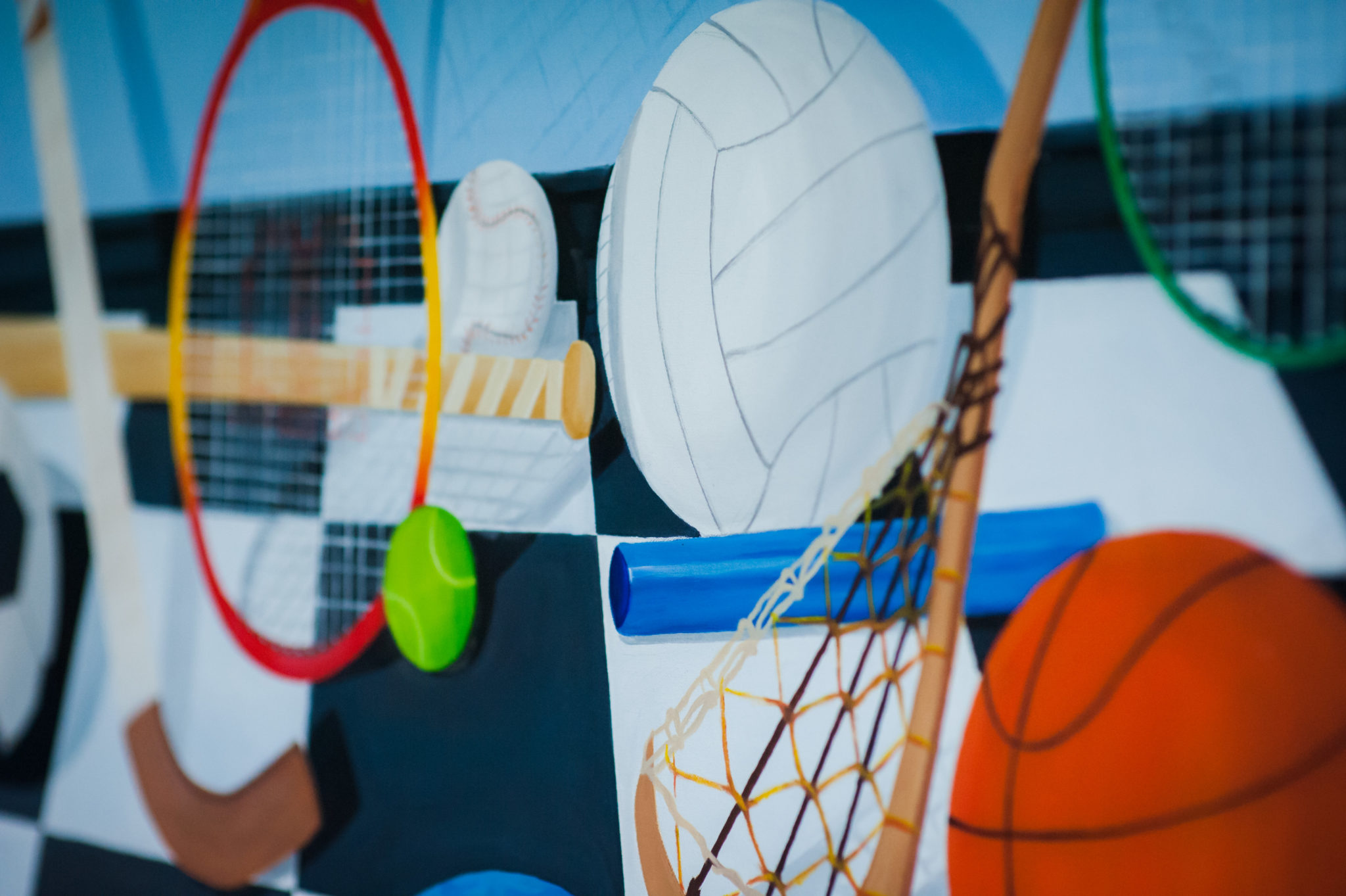 sports painting for blog